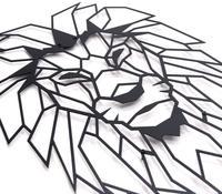 Antdecor голова льва геометрические металлические стены искусства | 40 см x 51 см | геометрические металлические стены искусства &