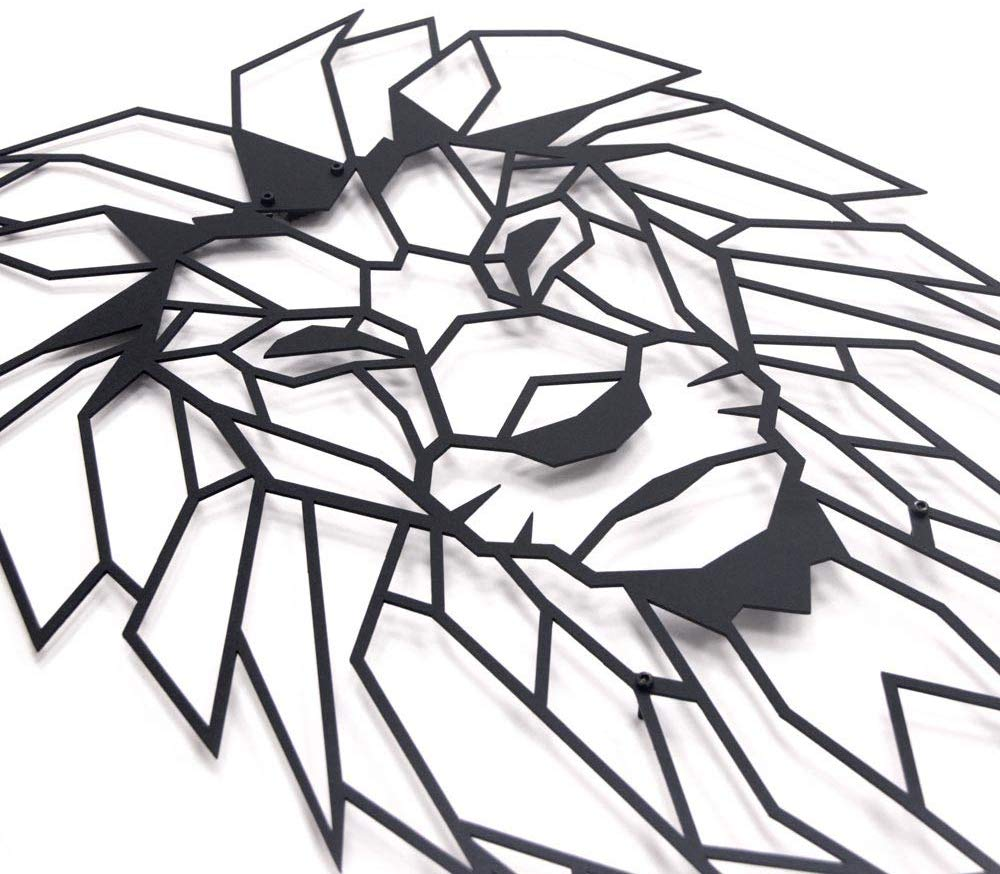 Antdecor Lion Head Geometric…