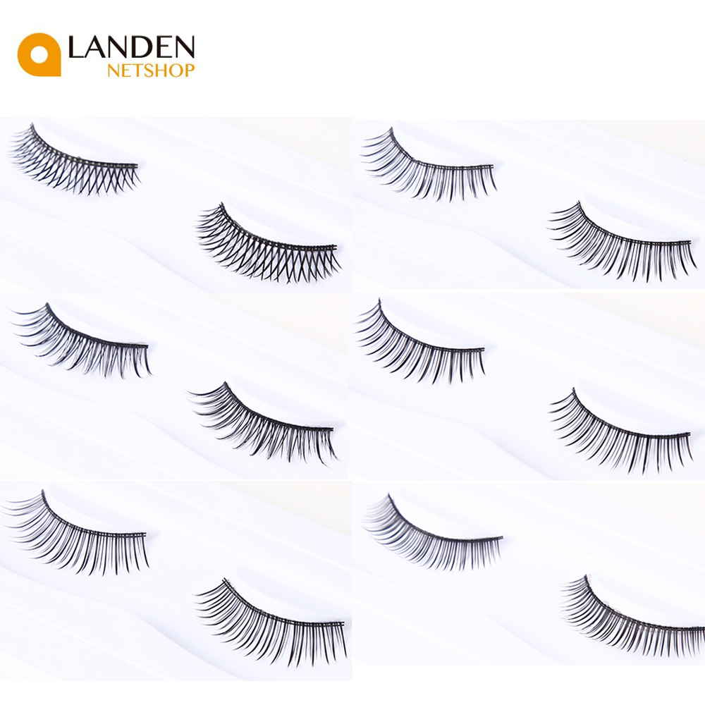 1 Par/set Natural Makeup 3D Mink Volume False Eyelashes Curl Home Cross Soft Mink's Long And Thick Tabs Tabs