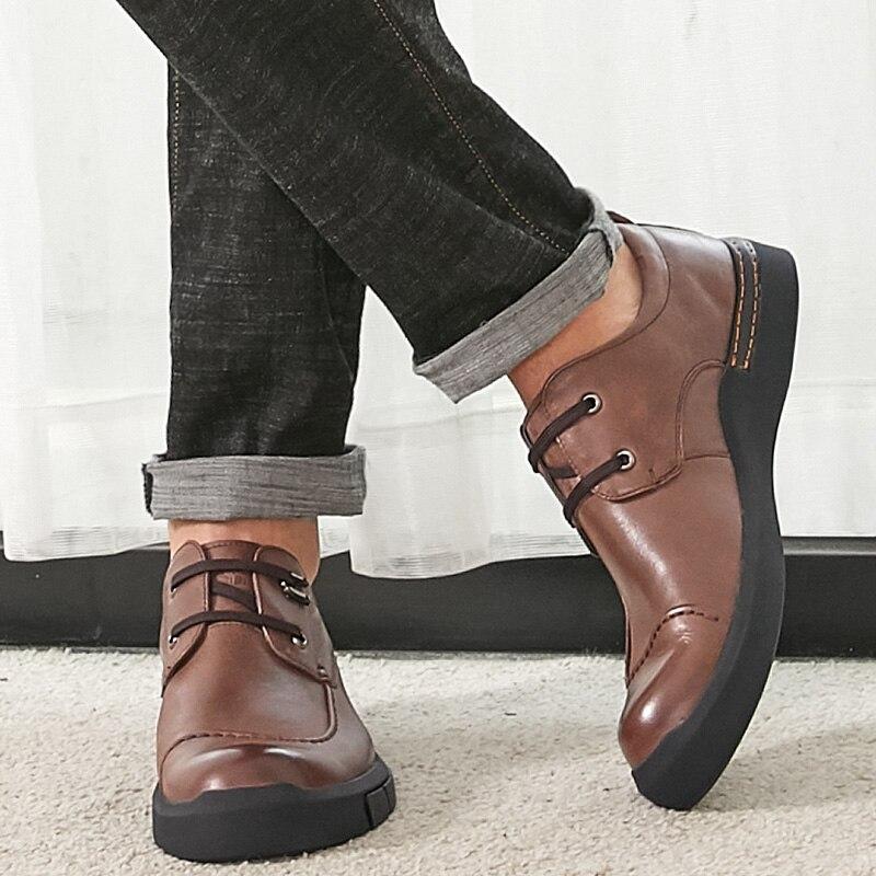 CAMEL/Мужская обувь; сезон осень; удобная мужская повседневная обувь из натуральной кожи; британский джентльмен; восковая воловья кожа; элегантные лоферы - 2