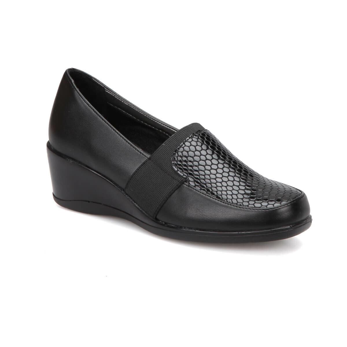 FLO 72. 158058.Z Black Women 'S Wedges Shoes Polaris