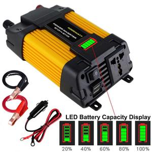 Peak 4000/6000W Solar Car Power Inverter Voltage transformer DC12 To AC110/220V Sine Wave Converter 2USB Interface Home Applianc