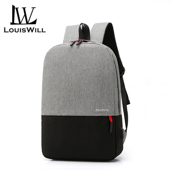Louiswill Men Laptop Backpacks Wear-resistant Shoulder Backpack Waterproof Computer Bag Backpack with USB Charging Port outdoor military tactical shoulder bag with usb charging chest bag wear resistant travel camping backpack cycling