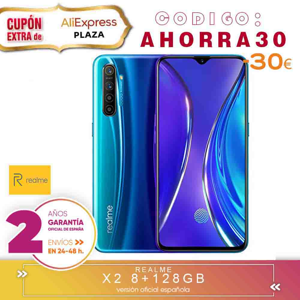 [Official Spanish Version Warranty] Realme X2, X2 PRO <font><b>Smartphone</b></font> phone, 8 <font><b>gb</b></font> ram 128 <font><b>gb</b></font> ROM <font><b>6</b></font>,4 ''Snapdragon 730G, 855 Plus image