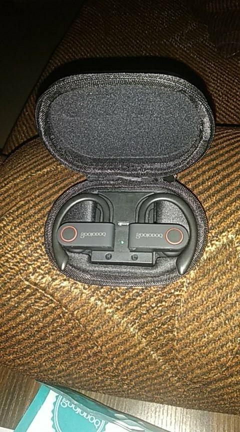 GOOJODOQ True Wireless Earbuds TWS Bluetooth Earphone 5.0 with Charger Box Sports Earhook Bluetooth Headphone for iphone xiaomi|Phone Earphones & Headphones|   - AliExpress