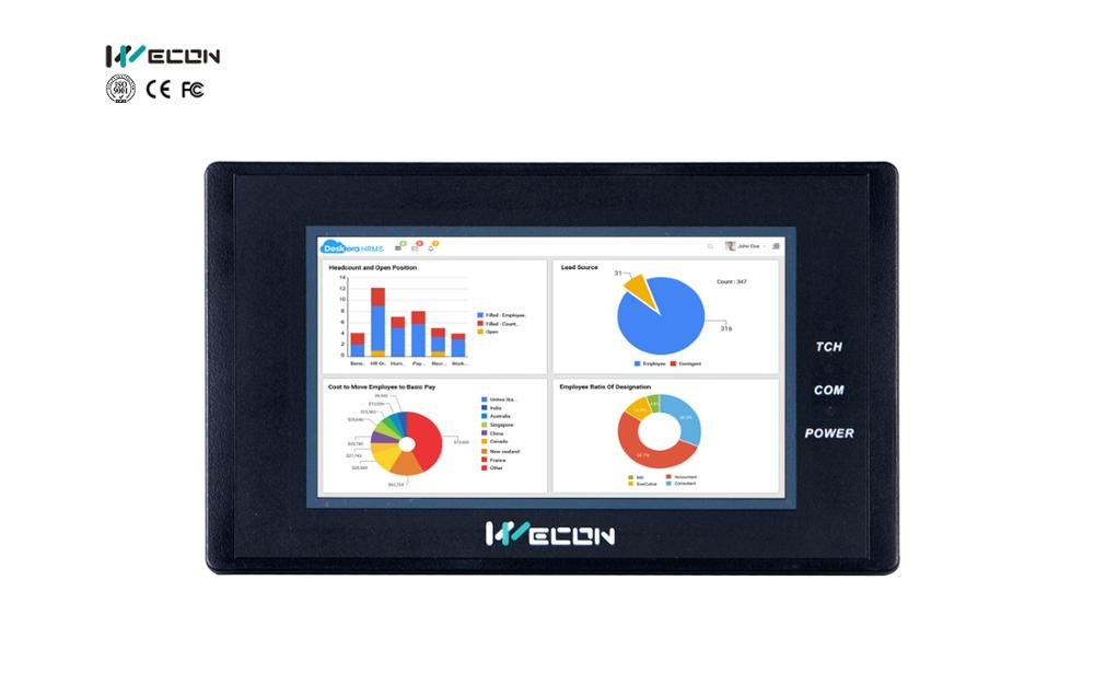 LEVI2043T Wecon HMI Touch Screen 4.3 Inch Supports RS232/ RS485/RS422