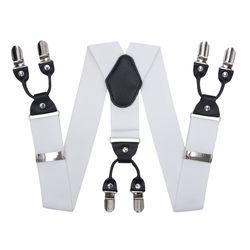 Bretelles pour pantalon large (4 cm, 6 clips, blanc) 55138