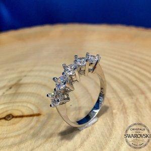 Оригинальное серебряное кольцо Swarovski Dibs altыn