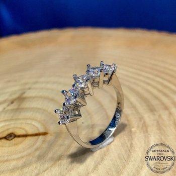 Orijinal Swarovski Dibs Altın Modello di Anello In Argento