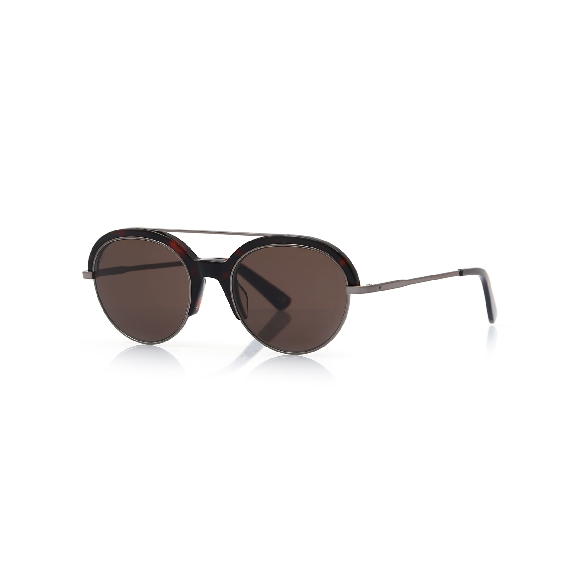 Unisex sunglasses w 0226 55j clubmaster Brown organic oval aval 51-20-145 web
