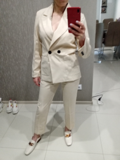 Suit casual suit female 2019 spring and autumn new Korean version was thin and small suit temperament small fragrance two-piece reviews №1 125164