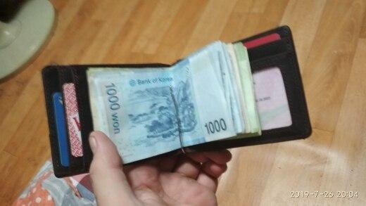 Clipe de dinheiro Carteira Negócios Genuíno