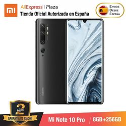 Mi Note 10 PRO (256 ГБ ROM con 8 Гб RAM, cаmara 108 MP , Android, Nuevo, Móvil)