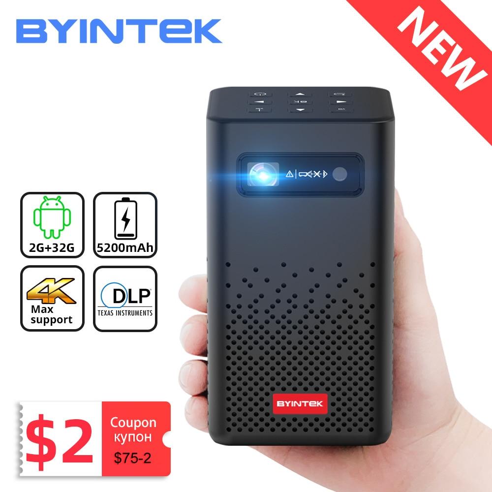 BYINTEK P20 Мини Портативный Pico Smart Android Wifi 1080P безэкранный ТВ лазерный светодиодный DLP проектор для мобильного смартфона 4K кинотеатр