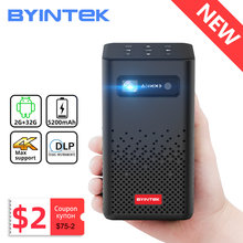 Byintek p20 mini portátil pico smart android wifi sem tela tv laser led dlp projetor para smartphone móvel 1080p 4k cinema