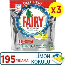 Fairy Platinum 195-detergente para lavavajillas, cápsula perfumada con limón, serie especial