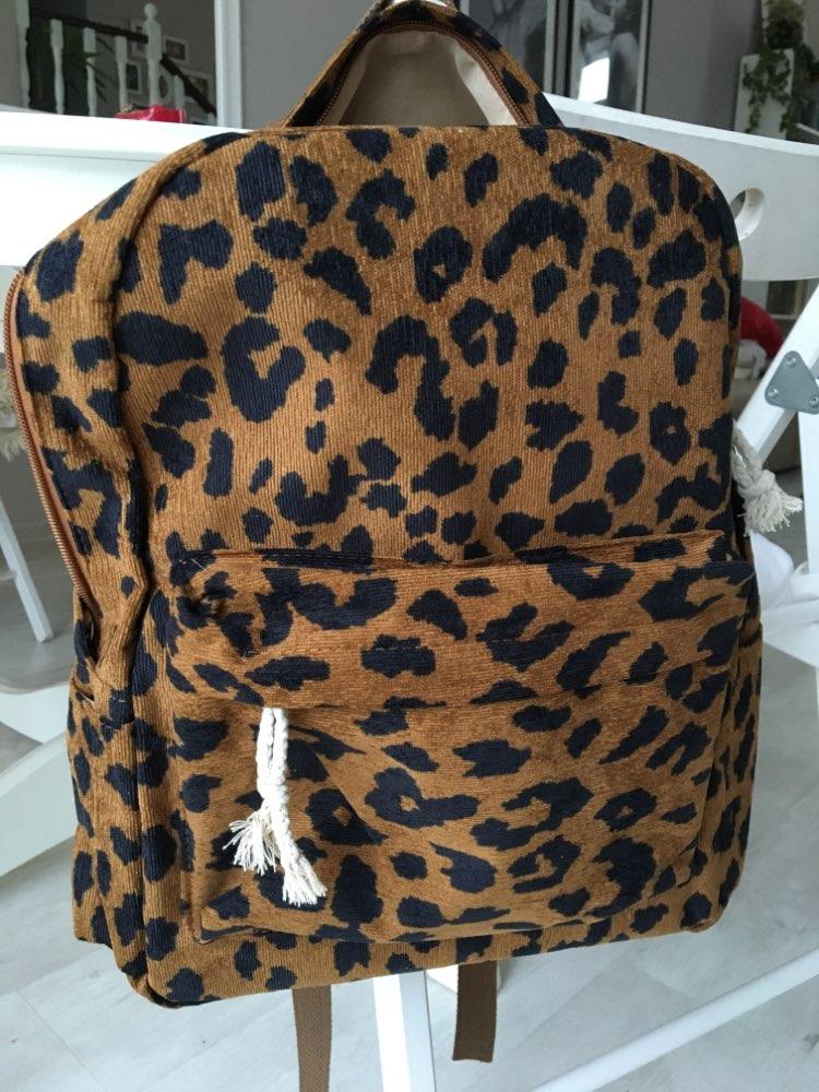 -- Mochila Leopardo Veludo