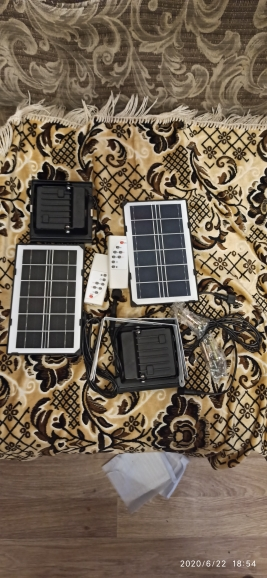 100 LED garden Solar split panel Light wall Security garage yard indoor home street deck fence solar lamps floodlight w  cable