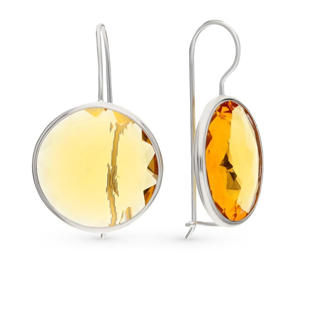 Silver Earrings With Alpanite Sunlight Sample 925