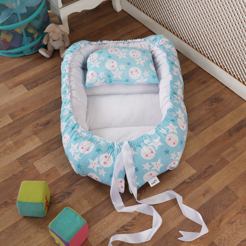 Baby Nest 70x106 Cm With Pillow Bed Cradle Portable Crib Travel Bed Washable Infant Crib Newborn Toddler Cotton Cradle By Turkey