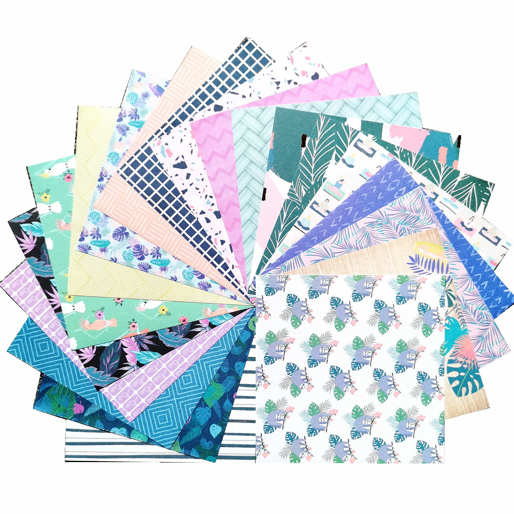 CRZCrafter 152x152mm 6 inch Scrapbooking Paper Pad 40 sheets Craft Paper Background pattern pack Acid free 5