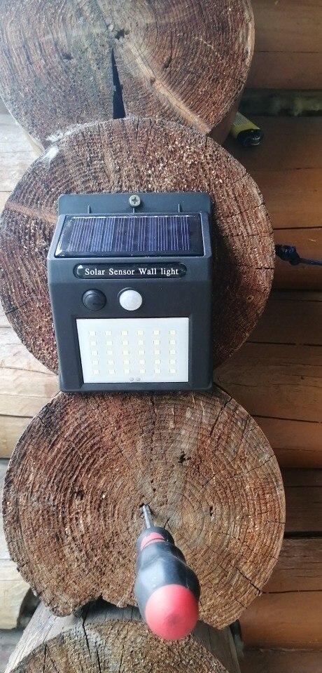 SUNYIMA 30 LED Outdoor Solar Wall Lamp Waterproof PIR Motion Sensor Garden Light Solar Powered Spotlight Sunlight Street Light