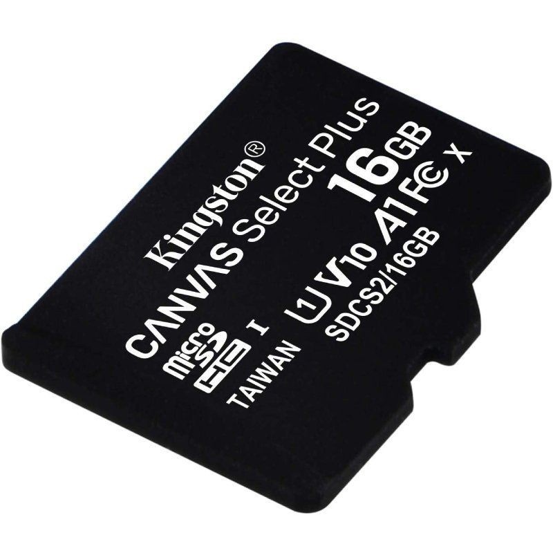 Microsd Card Hc Kingston Canvas Select Plus-16gb-class 10 - 100 Mb/s