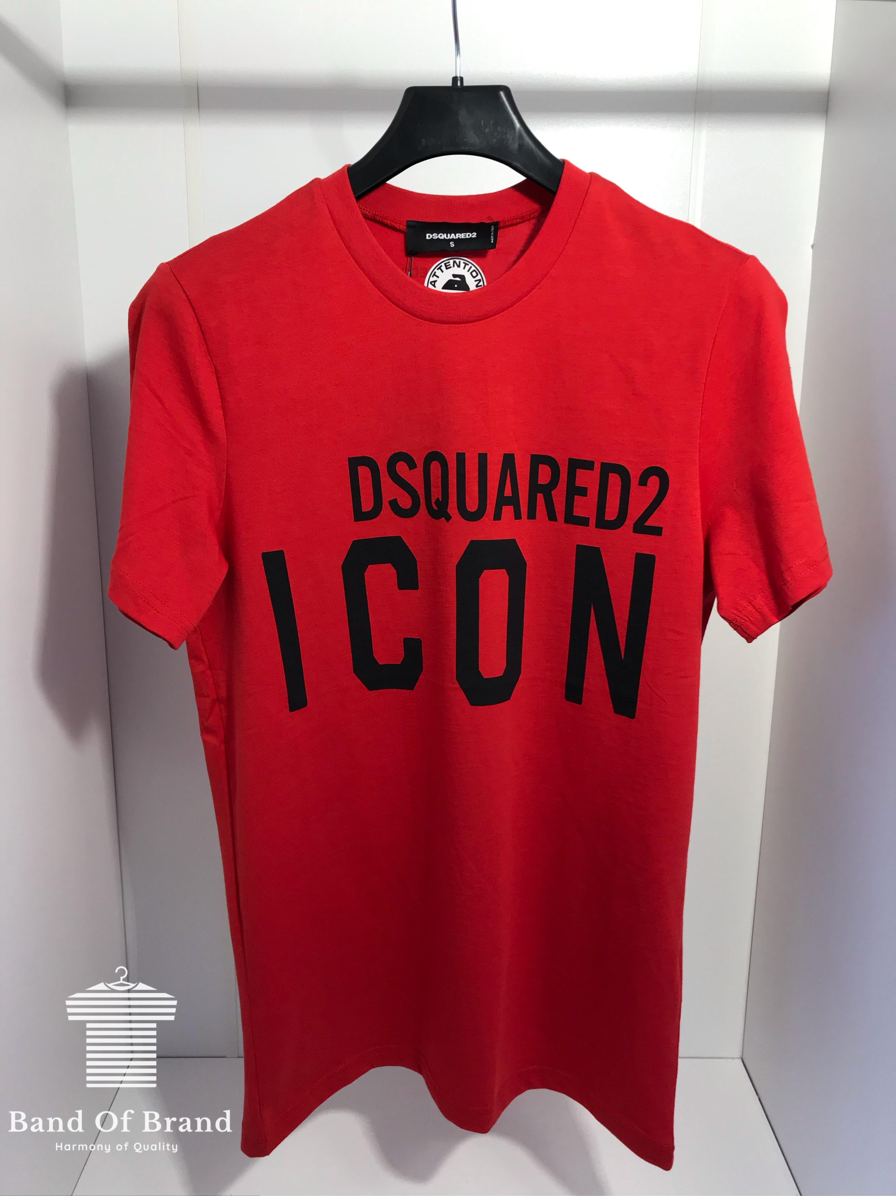 DSQUARED2 Men T-Shirt Short Sleeves Black Colour /%100 Cotton Large Size