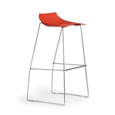 Stool AROSA, Chrome, Polypropylene Network