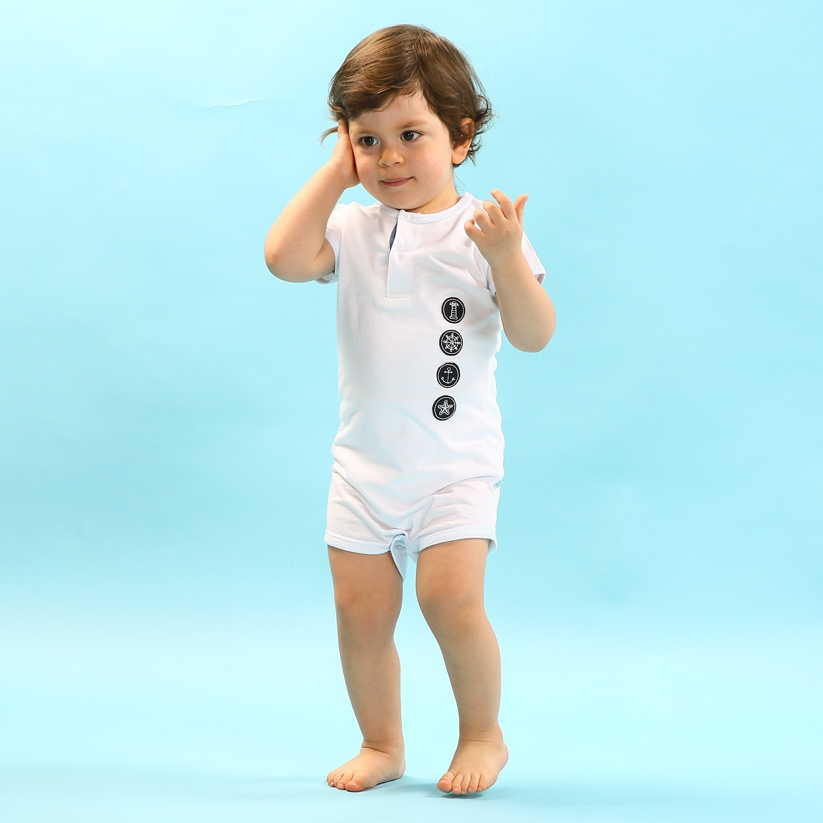 Ebebek For My Baby Boy Marin Crew Neck Bodysuit