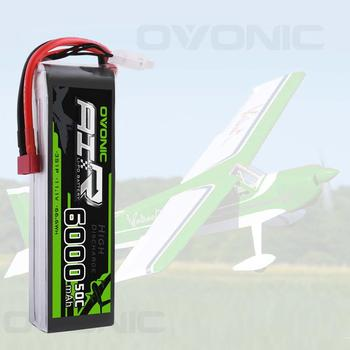OVONIC 6000mAh LiPo Battery For RC Car 3S Lipo Battery 11.1V 50C Pack With Deans / T Plug For RC Car Truck Drone Airplane zeee lipo battery 11 1v 6000mah 60c 3s rechargeable drone battery deans plug xt60 connector 3s lipo for fpv rc car helicopter