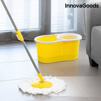 InnovaGoods Double Action Spinning Mop with Bucket