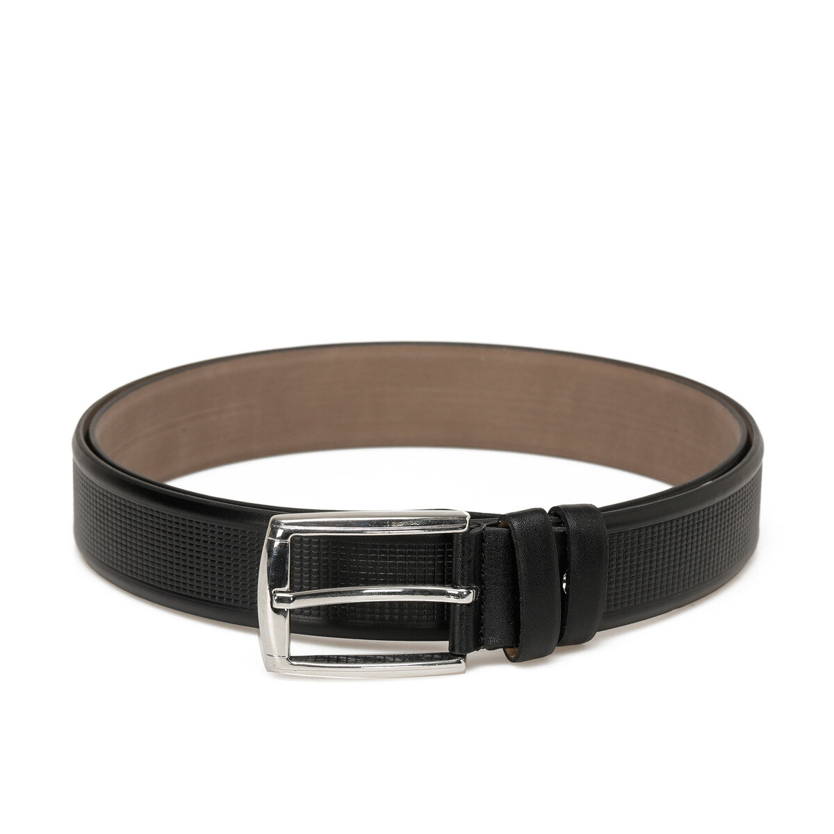 FLO 20M VZY BSKI KMR Black Male Belt Garamond