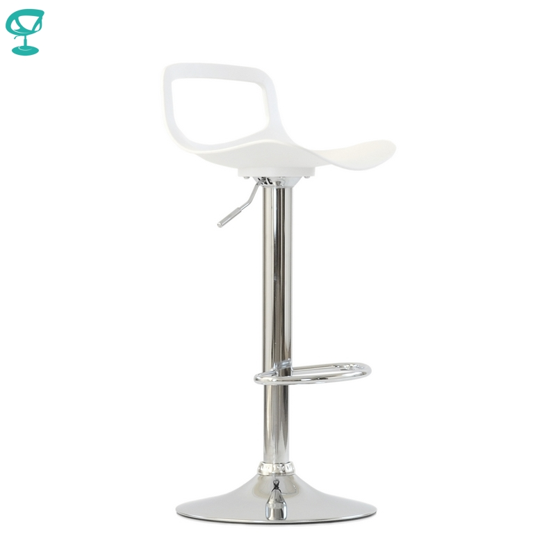95631 Barneo N-263 High Plastic Kitchen Breakfast Bar Stool Swivel Bar Chair White Color Free Shipping In Russia