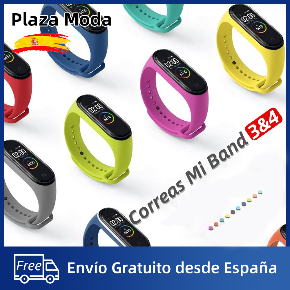 Xiaomi Mi Band 4 Strap Mi Band 3 Strap Silicone Bands Mi Band 4 Bracelet Free Shipping from Spain