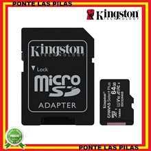 Kingston Micro SD 64GB Canvas Select Plus - Original - Tarjetas de Memoria MicroSD - 64 GB - Samsung Xiaomi Huawei Movil Tablet