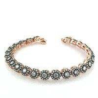 Watercourse Diamond Montür Gold Model Design Silver Bracelet