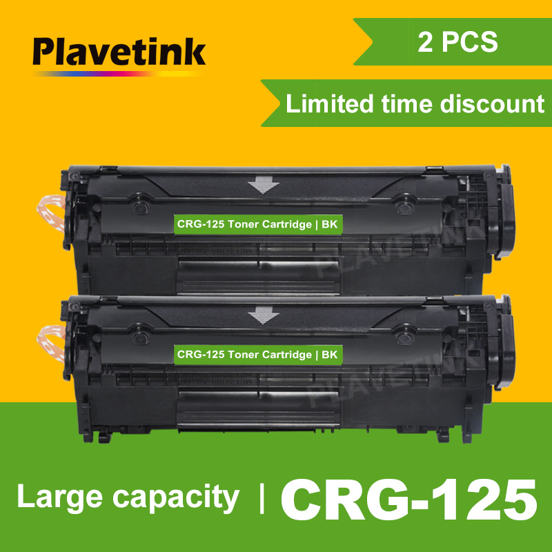 Plavetink 2PCS Black CRG 125 Refillable Toner Cartridge for <font><b>Canon</b></font> CRG125 <font><b>LBP6000</b></font> LBP6018WL LBP6030w MF3010 Laser Printers image