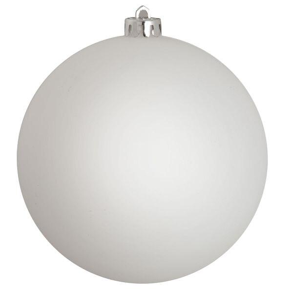 Новогодний шар, пластик, матовый, 12 см, 1 шт. белый Snowmen ЕК0437|Декоративные шары| | АлиЭкспресс
