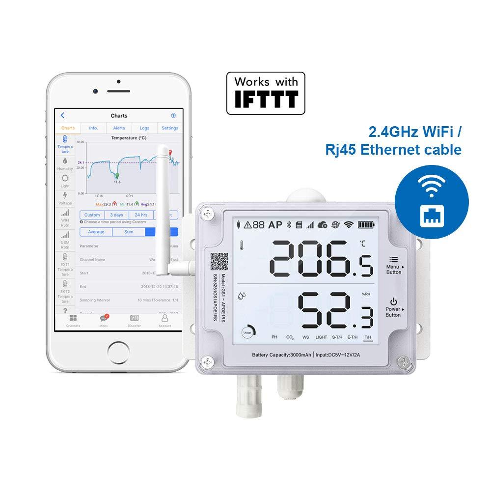 Ubibot Gs1 Aeth1rs Termometro Igrometro Con Avvisi Wifi Di Umidita Di Temperatura Sala Server A Distanza Di Temperatura Data Logger Moduli Automazione Domestica Aliexpress Camara ip wifi con termometro detección temperatura fiebre. aliexpress
