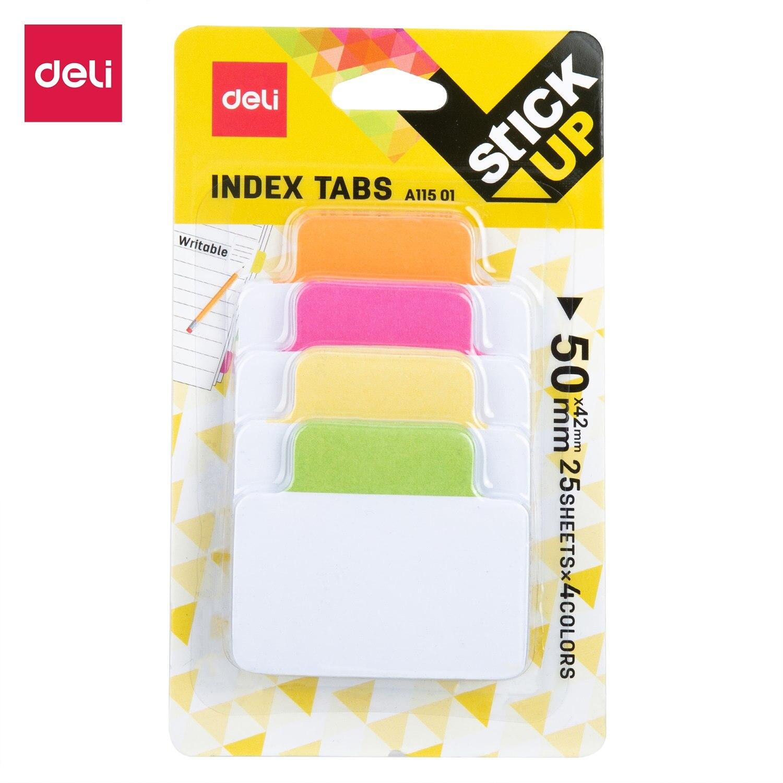 Индексные наклейки DELI EA11501 для планировщика, 1 шт./лот, флаг, Закладка, клейкие заметки, бумажные вкладыши, канцелярские товары, товары для школы, разделитель индекса