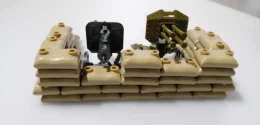MOC Parts Sandbags Military Accessories bricks Oil Drum Swat Weapon Soldier WW2 Army Building Block Military scene series photo review