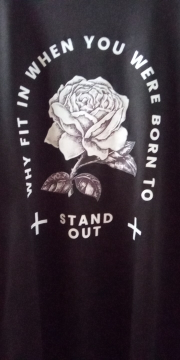 Gothic rose print T-shirt photo review