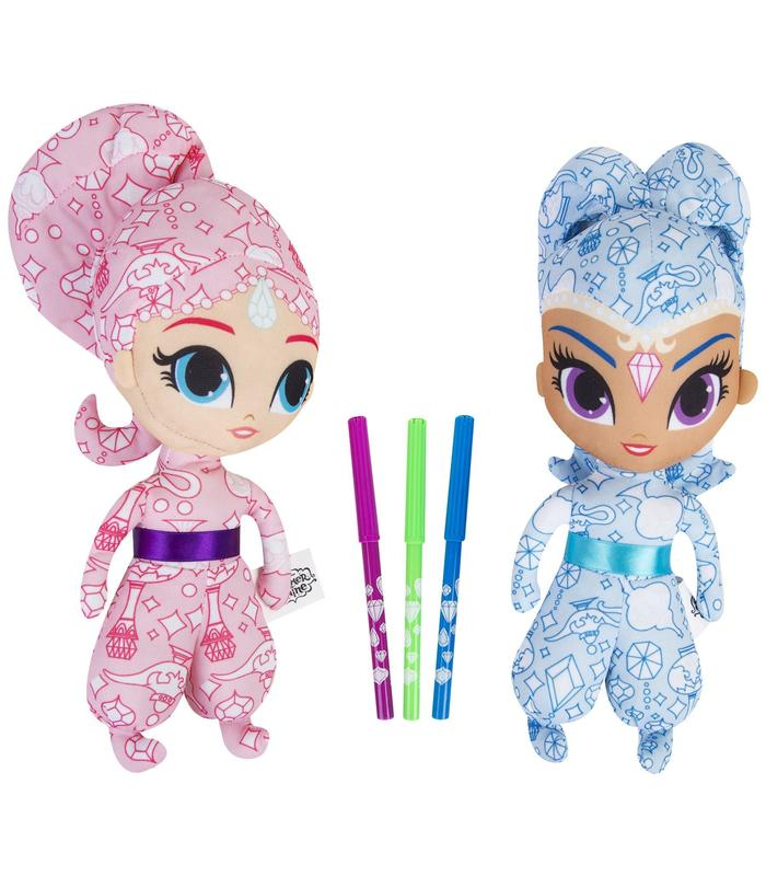 Plush Shimmer And Shine 2 PCs Coloring Toy Store Articles Created Handbook