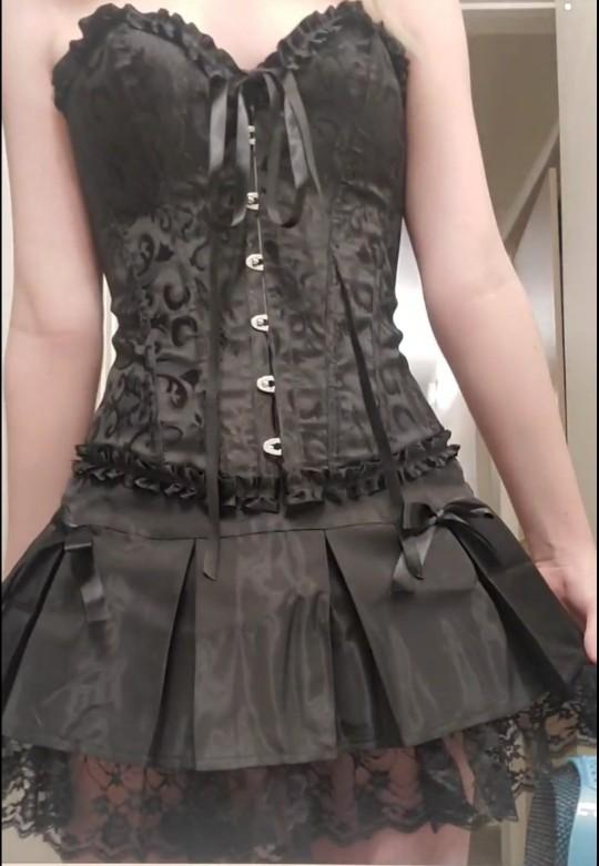 Corset and skirt set E-girl Harajuku photo review