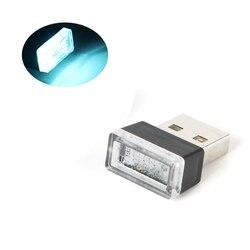 7 Colors Mini USB LED Light Ambient Lamp Car Interior Decorative Light Atmosphere USB Plug and Play Atmosphere Emergency Lights