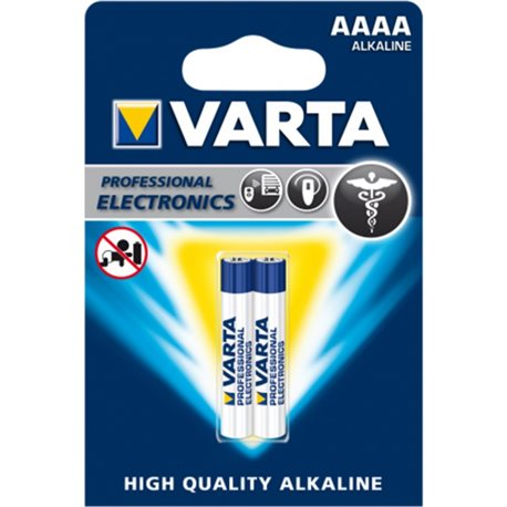 ALKALINE Battery LR61 AAAA 1,5V HIGH QUALITY VARTA 2 PZ