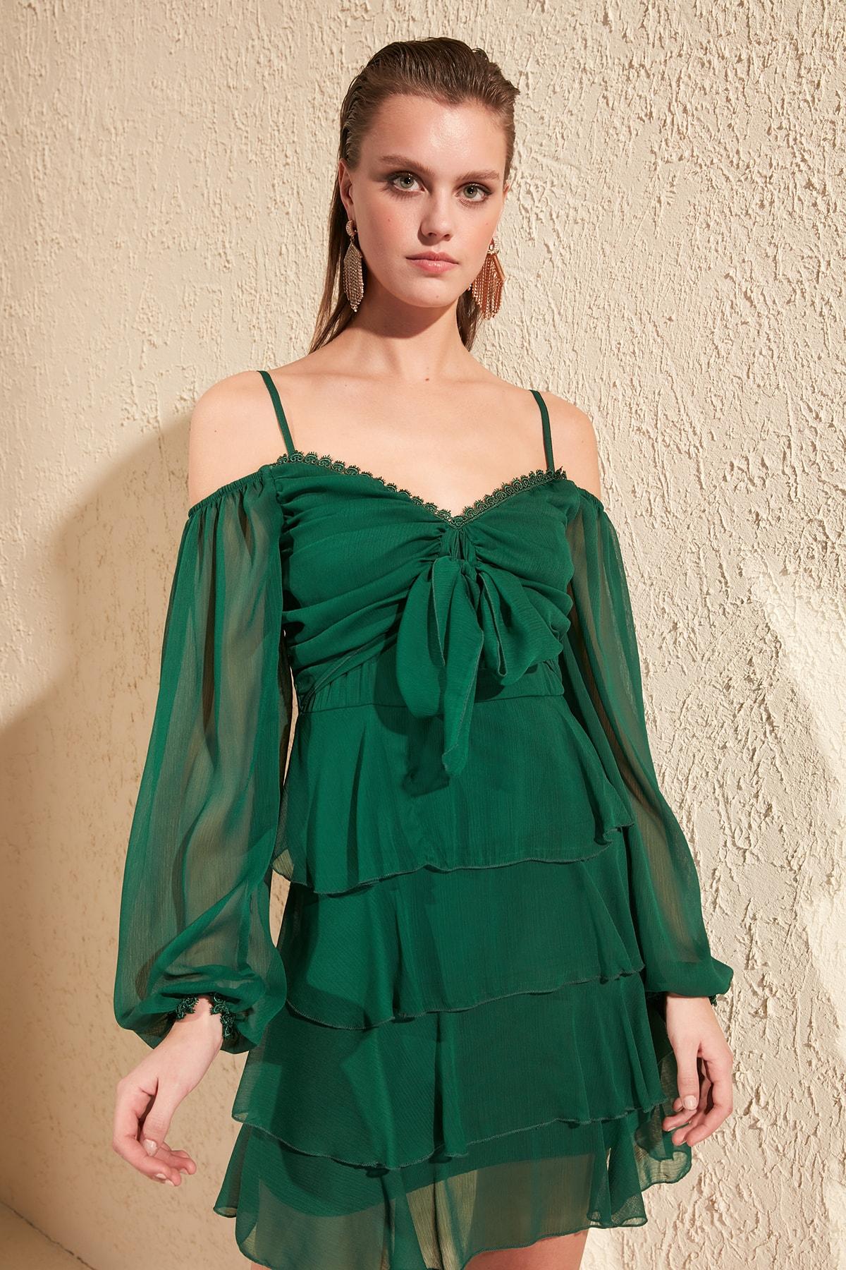 Trendyol Lacing Detail Dress TPRSS20EL0328
