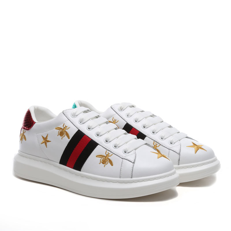 Crocodile Skateboard Shoes Street-Sneaker Off-White Women Footwear for Height-Increase title=