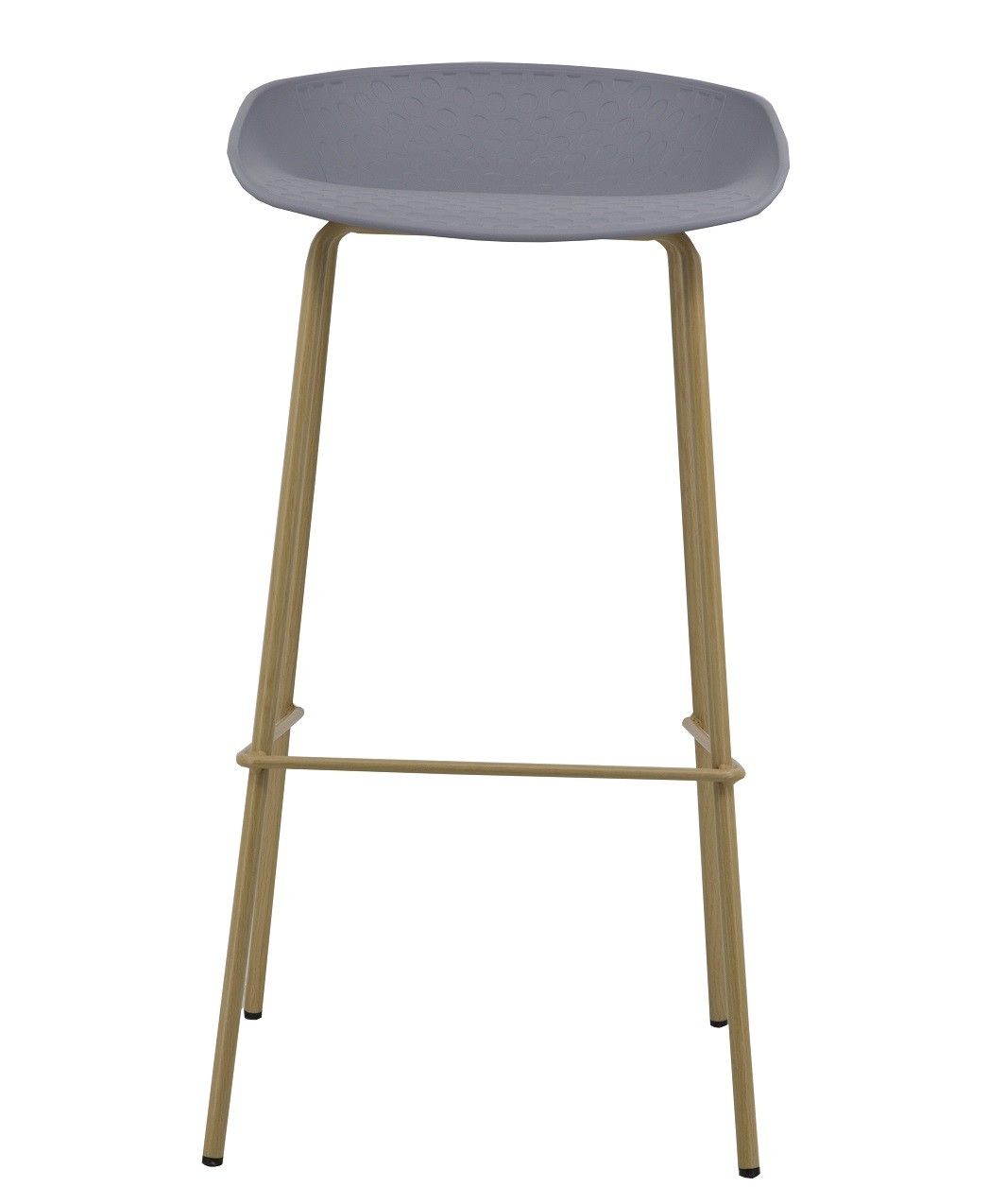 Stool LARIOS Metal Polypropylene Gray